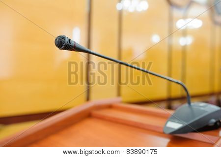 A mic in front of an Audience