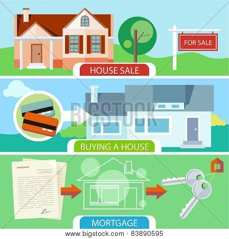Sale, buying house and mortgage