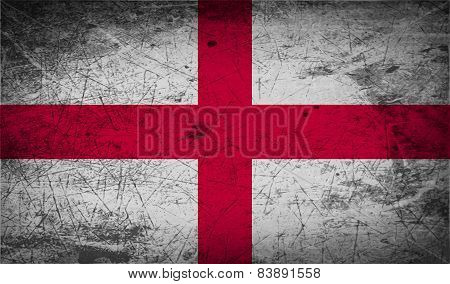 Flag Of England With Old Texture. Vector