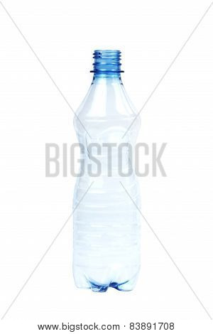empty bottle of water isolated on white