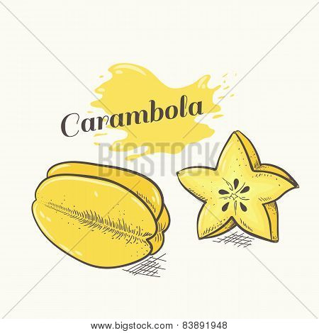 Vector Illustration Of Carambola