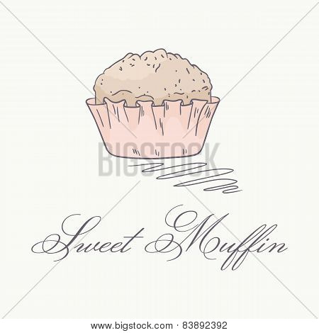 Hand Drawn Muffin