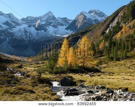 Autumn mountain valley
