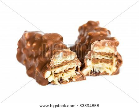 Chocolate Bar With Wafer And Nuts