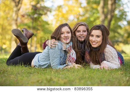 Three Happy Female Friends