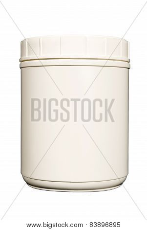 Blank White Canister With Copy Space
