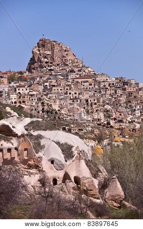 Homes On A Hillside In Cappadocia Turkey