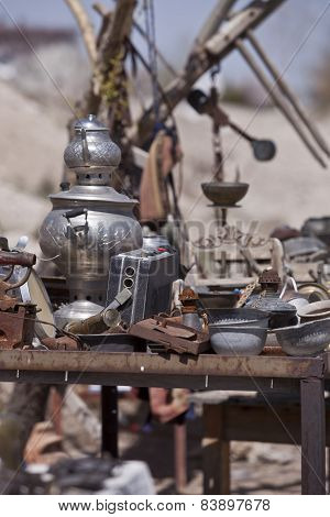 Table Of Trinkets In Cappadocia Turkey