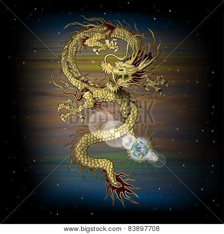 Chinese Dragon In Space