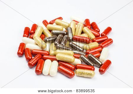 Stack alternative medical capsules
