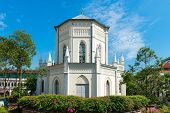 picture of neoclassical  - Old church building in neoclassical style with stained - JPG