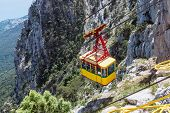 picture of ropeway  - Ropeway in Yalta leading to the top of Ai - JPG