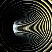 picture of tunnel  - Abstract background Illustration of 3d tunnel with rings - JPG