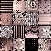 image of silk lingerie  - Seamless background pattern - JPG