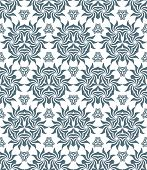 stock photo of psychedelic  - vector dark grey monochrome psychedelic floral abstract seamless pattern white background - JPG