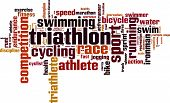 stock photo of triathlon  - Triathlon word cloud concept - JPG