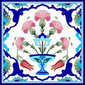 foto of ottoman  - Inspired by the Ottoman decorative arts pattern designs - JPG