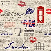 picture of newspaper  - Seamless background pattern - JPG