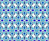 stock photo of ottoman  - Seamless pattern design inspired by the Ottoman decorative arts - JPG