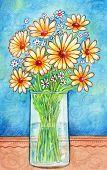 Постер, плакат: Vase With Flowers
