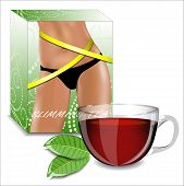 stock photo of crotch  - Slimming tea - JPG