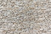 image of slating  - Slate stone wall closeup texture background detail - JPG