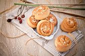 stock photo of cinnamon  - Cinnamon rolls  - JPG
