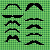 stock photo of mustache  - Set of mustache  - JPG