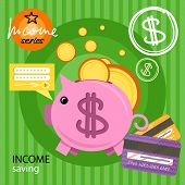 picture of coin bank  - Income saving series - JPG