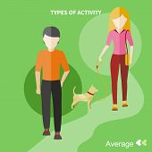 stock photo of average man  - Types of activity - JPG