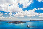 picture of greek-island  - Cruise liner near the Greek Islands - JPG