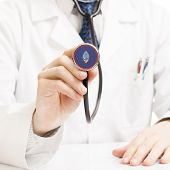 image of guam  - Doctor holding stethoscope with flag series  - JPG
