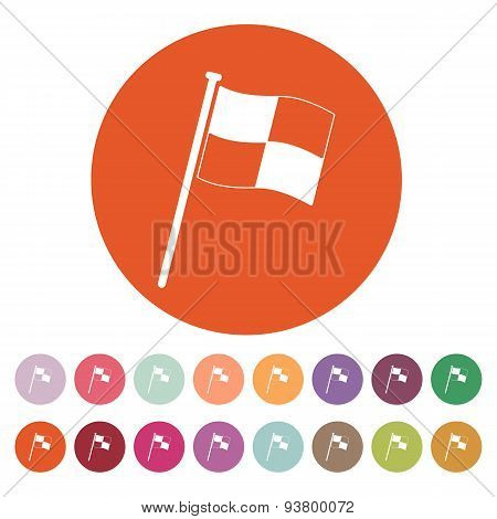 The Race Flag Icon. Finish Symbol. Flat