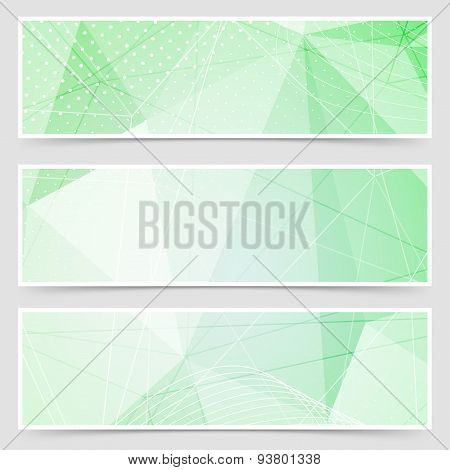 Green Crystal Pattern Dot Header Set Layout