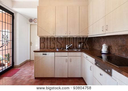 interior of old house, classic domestic kitchen