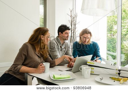 Start-up business team in meeting