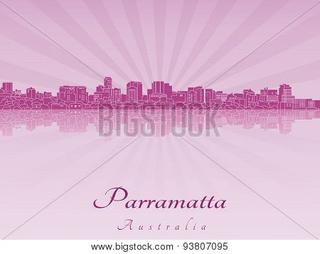 Parramatta Skyline In Purple Radiant Orchid