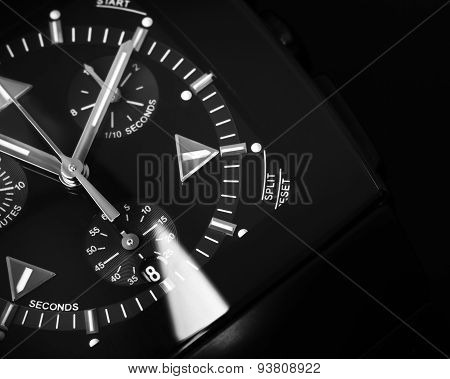 Luxury Mens Chronograph Watch Made Of Black High-tech Ceramics