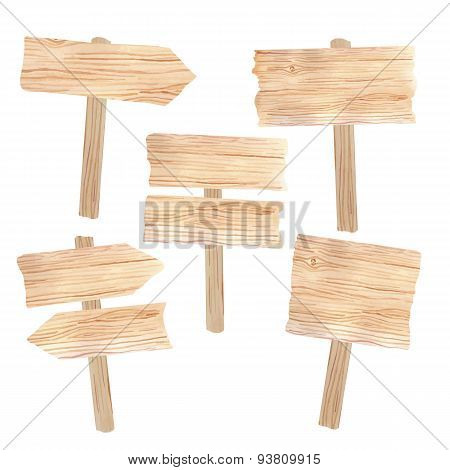 Wooden boards and signs
