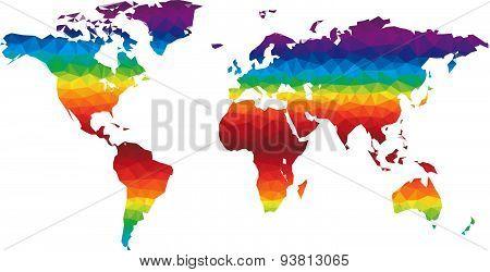 Polygon World Map Vector
