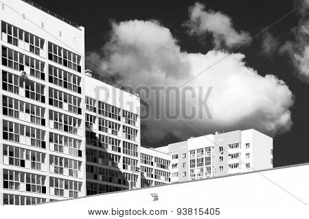 New Modern Housing Apartments In Black And White