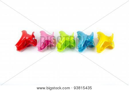 Hair Clips Isolated On White Background
