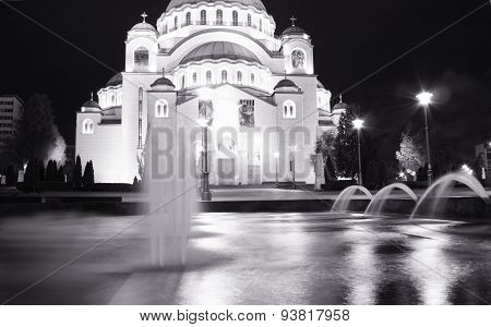 Belgrade, One Of Attractions In Town - Saint Sava Temple