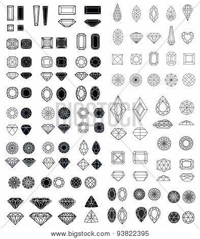 Big Set Of Diamonds