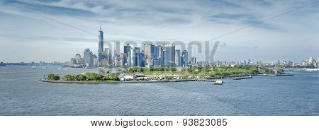 A panoramic image of New York Manhattan