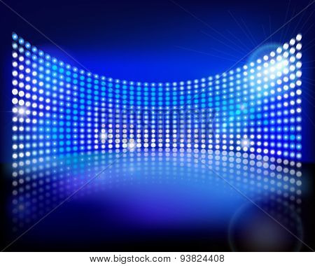 The led screen. Vector illustration.