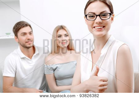 Young couple at psychologist
