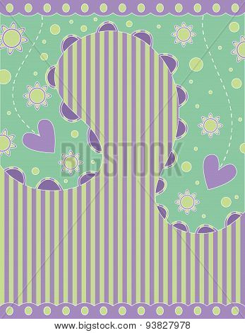 Romantic background with hearts and stripes