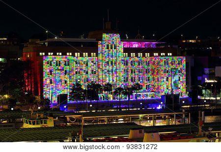 Museum Of Contemporary Art Building Coloured Squares