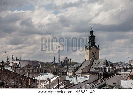 High Tower Among Old Roofs, Lviv